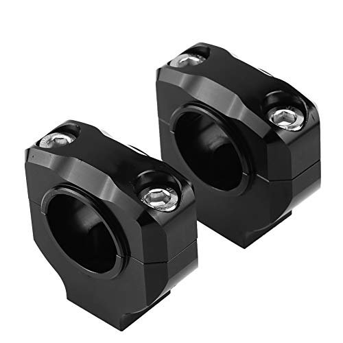 Cuque Black Handlebar Bar Risers (a Pairs) 28mm (1/8 inch) CNC Aluminum Alloy Motorcycle Handlebar Mount Clamp Lifter Bar Riser for Universal