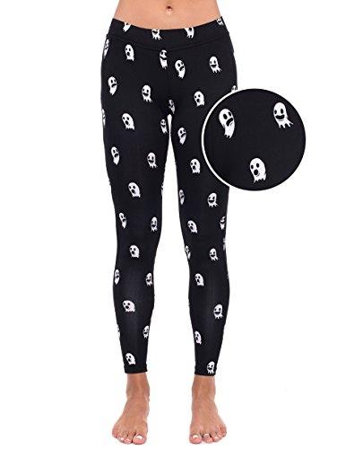 Super Cute Halloween Costumes For Adults (Ghost Leggings - Ghost Halloween Costume Tights for Women: Medium)
