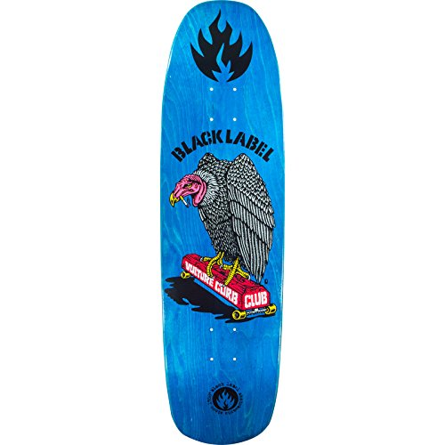Black Label Skateboards Vulture Curb Club Skateboard Deck Assorted Veneers - 8.88