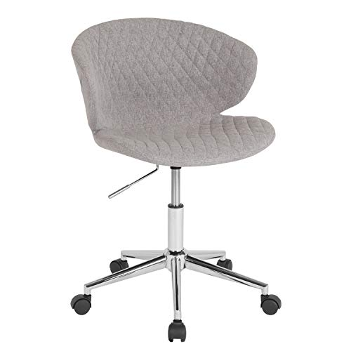 Flash Furniture Cambridge Home and Office Upholstered Mid-Back Chair in Light Gray Fabric