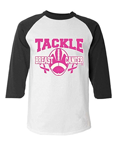 Tackle Breast Cancer Football Baseball Shirt Breast Cancer