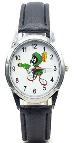 Marvin The Martian Character Leather Band Wrist Watch