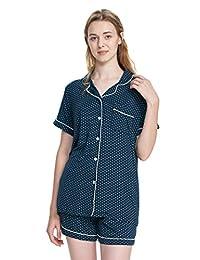SIORO Pajamas for Women Modal Cotton Sleepwear Ladies Pajamas Set Soft Loungewear, Two Piece PJ Set S-XL