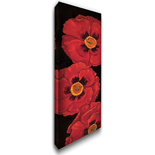 Bella Grande Poppies - Bella Grande Poppies 14x35 Gallery Wrapped Stretched Canvas Art by Brent, Paul