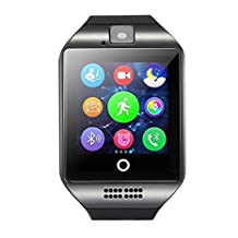 CSMARTE Newest Q18 Smartwatch with Camera Original TF/SIM Card Slot Built-in Facebook Twitter Wristwatch for Android Samsung Sony Huawei and iOs iphone 6S/6 Plus/5c/5s/5 etc (Black)