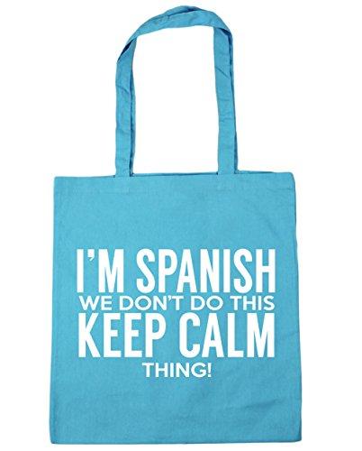 Bag Spanish Shopping don't Surf Tote I'm HippoWarehouse do x38cm Gym this Beach 10 we keep calm thing Blue litres 42cm BOSq5qwxv