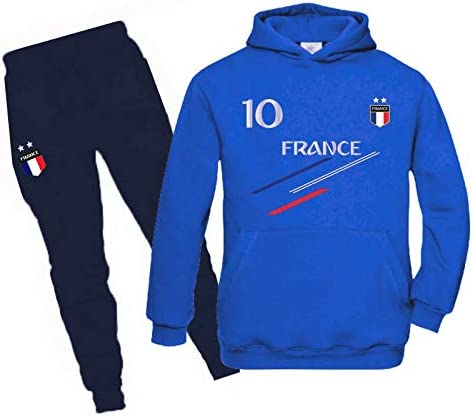 JHK - Chándal de fútbol de Francia con 2 estrellas para niño: Amazon.es: Deportes y aire libre