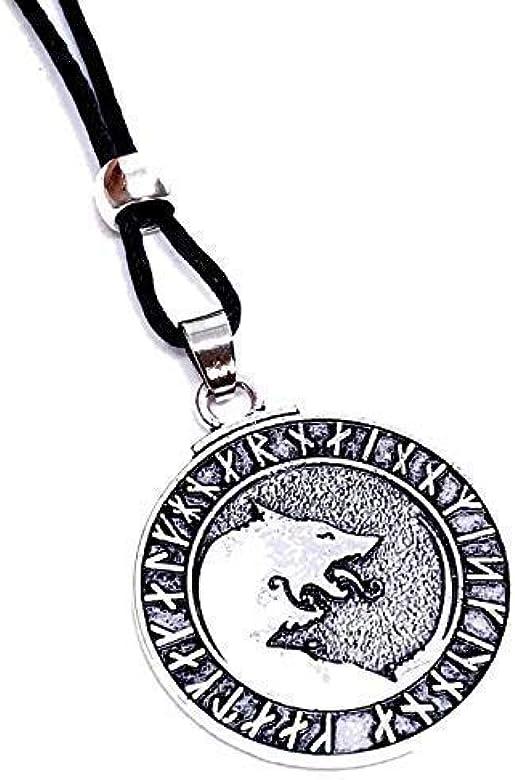 Eclectic Shop Uk Wolf Runas Colgante Viking Dios Pagano, Midgard ...