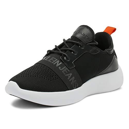 Mel Jeans Calvin Homme Logo Klein Black Basses Ckj Sneakers Knit qf6AB