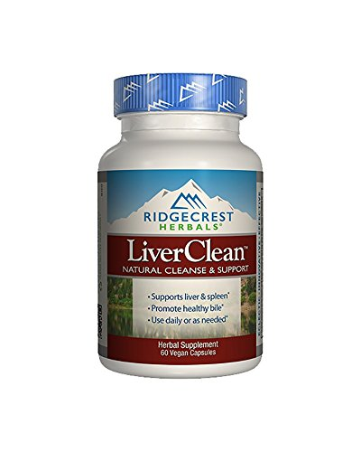 RidgeCrest LiverClean, Herbal Cleanse and Support Veg-Capsules, 60-Count by Ridgecrest Herbals