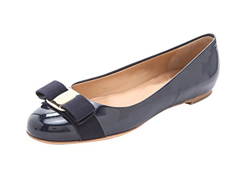 SexyPrey Women's Large Size Round Toe Ballet Shoes Casual Bowknot Flats Pumps for Work Office Navy OBA7y3fASn