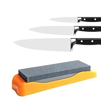 Yamesu - Piedra afiladora de cuchillos de 2 caras con base ...