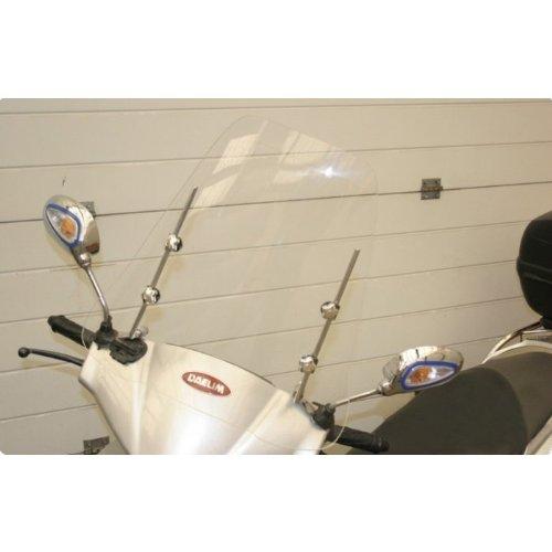 Wohnstyle24 Universelles Windschutzschild 001 transWindschild fü r Roller Motorrad Mofa Motorroller Quad ATV Schutzscheibe Windschutz transparent