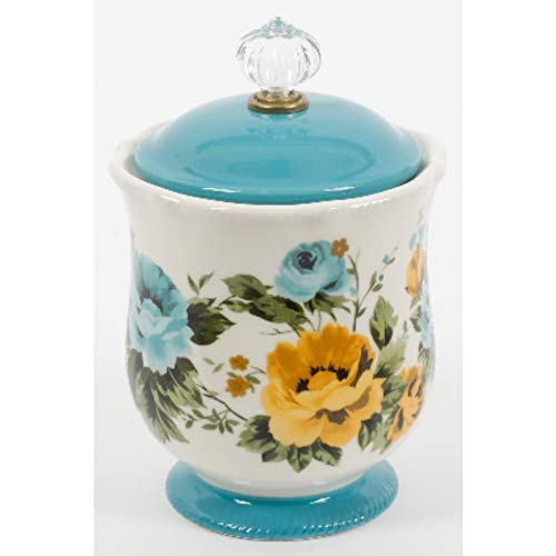 (The Pioneer Woman Pioneer Rose Shadow Canister w/Acrylic Knob)