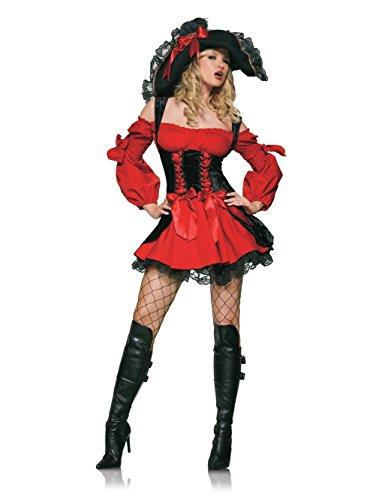 Leg Avenue Womens Vixen Pirate Wench Adult Costume (Vixen Pirate Wench)