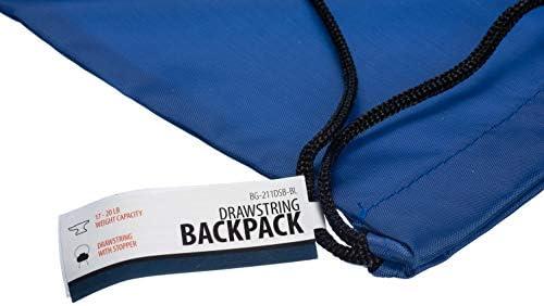 BG-212DSB-RR-20 20-Pack SE All-Purpose Red Drawstring Backpacks
