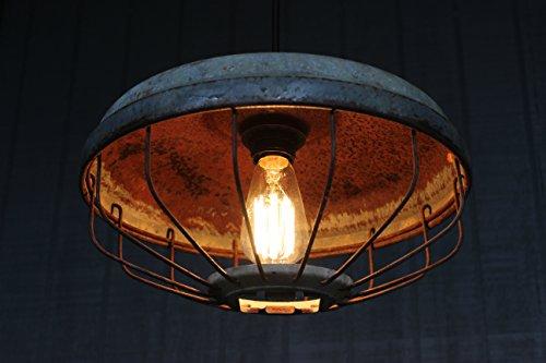 Farmhouse Pendant Lighting – LightLady Studio – Antique Chicken Feeder Pendant Light – Industrial Light Fixture – Handmade in USA – Vintage Lighting -…