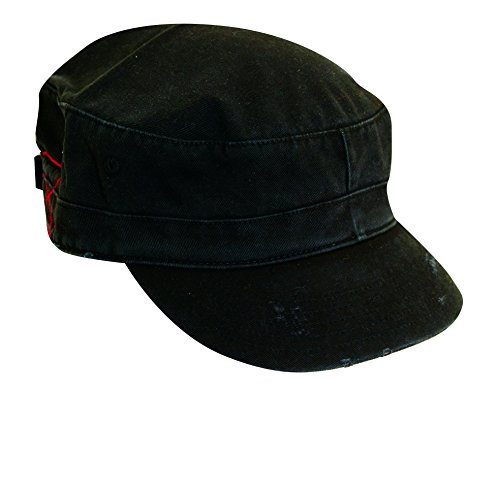 Dorfman Pacific Co. Men's Washed Twill Cadet Cap, Black, One Size