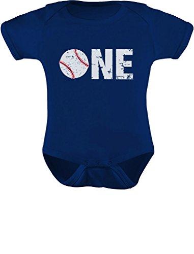 TeeStars - 1st Birthday Gift for One Year Old Infant Baseball Baby Bodysuit 18M (12-18M) Navy