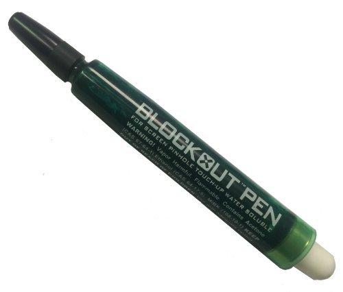 Blockout Pen for Screen Printing - Blue or Green (Green) (Pinhole Pen)