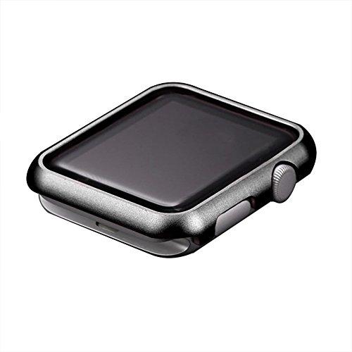Apple Watch Serie 3 Case, Toeoe 42MM Lightweight Metal Bumper Aluminum Alloy Hard Protective Case for Apple Watch Series 3/2/1 42MM Black