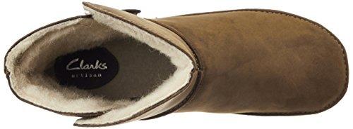 Clarks Lima Caprice - botas de caño bajo de cuero mujer Marrón (Brown Snuff)