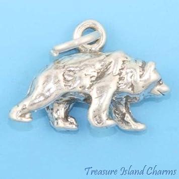 STERLING SILVER POLAR BEAR CHARM SOLID SILVER POLAR BEAR CHARM OR PENDANT