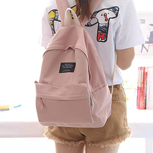 KEROUSIDEN Simple and Stylish Canvas Bags Men and Women Backpack Dual Shoulder Bag Wild Leisure Backpack, Sepia Toner