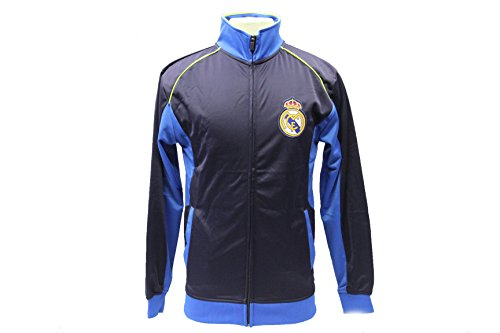 Real Madrid Jacket Track Soccer Adult Sizes Soccer Football Official Merchandise (Navy, M)