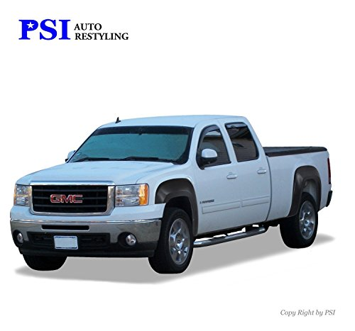 PSI Auto Restyling 800-0113 OEM Style Fender Flares; Front And Rear; Flare Width OEM; Tire Coverage OEM; Smooth Black