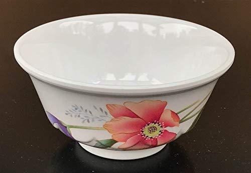 Z-Moments Melamine Round Rice Bowl Noodle Soup Serving Bowl, 4-5/8