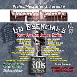 Karaokanta KAR-7069 - Lo Esencial de Karaokanta 5 Spanish Karaoke CDG