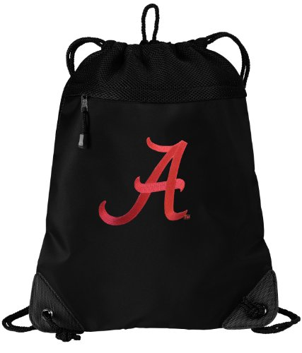 Bama Drawstring Bag University of Alabama Cinch Pack Backpack UNIQUE MESH & MICROFIBER (Drawstring Microfiber Backpack)