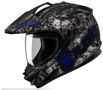 AJK SOLオフロードSS1 PGヘルメットバイク用ヘルメットバイクヘルメット大人気SOL-SS1オフロードバイクヘルメット通気性抜群 MLXLXXLブルー M|747|