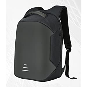 Seaoeey Anti-theft Backpack Schoolbag USB Charging Business Computer Bag Black