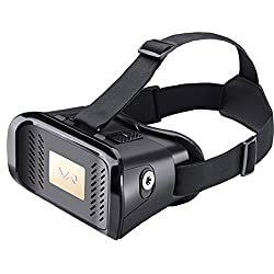 Virtual Reality Glasses 3D VR Glasses Video Game Glasses for iPhone Samsung DIY for 3D Movies Black