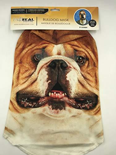 Faux Real Unisex-Adult's Bulldog Mask, White, OSFM -