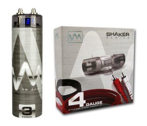 VM Audio 4 Gauge Amplifier Wiring Kit w/ 3 Farad VM Audio (Cellular Amplifier Cradle Kit)