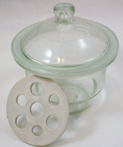 250mm Heavy Duty Glass Desiccator w/Porcelain Drying Plate Desiccator Glass