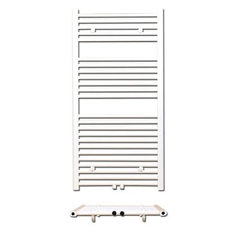 Radiador de baño DH - recto - Radiador-calentador de toallas Toalla Radiador Toallero Altura 800 mm, conector conector de aspecto: Amazon.es: Bricolaje y ...