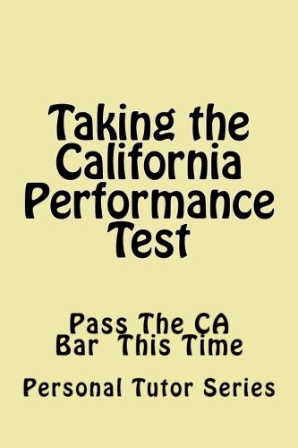 Taking the California Performance Test