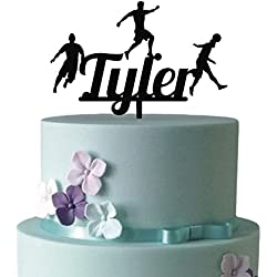 KISKISTONITE World Cup 2018 Cake Toppers, Football Practice Sports Cake Toppers | Name Custom Birthday Personalized Cake Decoration Favors Party Cake Decorating Supplies