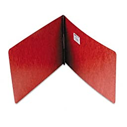 ACCO Pressboard Binder Report Cover, Prong Clip, Legal Size, 2-Inch Capacity, Red - 10 Each Per Pack