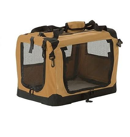 Suncast - Transportín para Mascotas, portátil, Suave, Plegable, para Perros, Gatos
