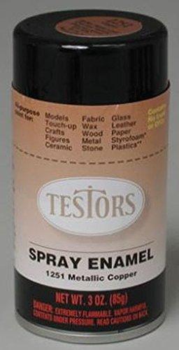 Copper Spray Testors Enamel Plastic Model Paint ()