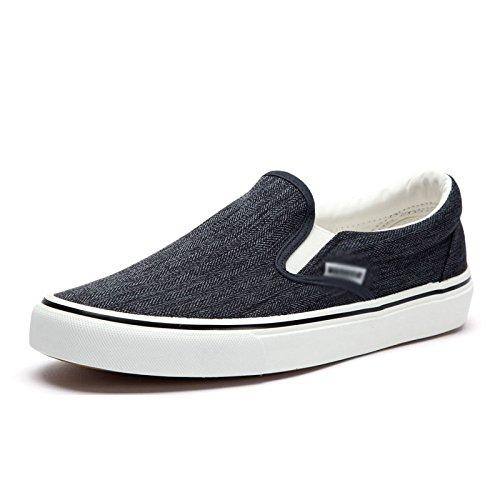 casual e le Nero pigro basse bassa invernale aiutare scarpe tela un da traspiranti Scarpe uomo scarpe XFF per di comode pedale scarpe caduta xBPPFn