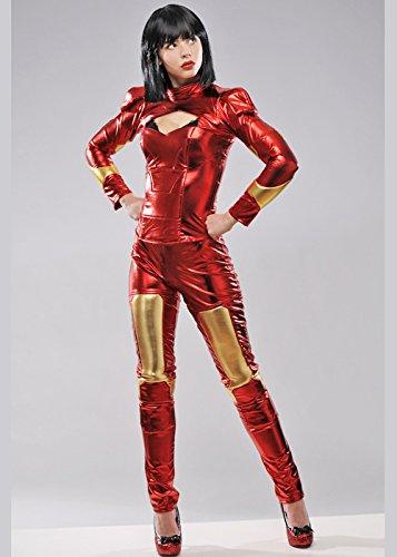 Traje de superhéroe Hombre de Estilo Iron Man Small (UK 8-10 ...