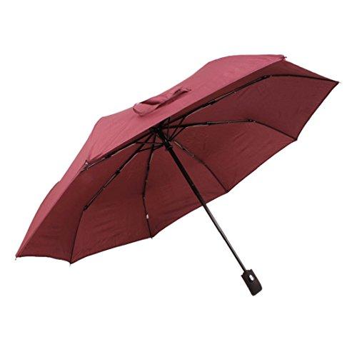 Fakeface Premium Quality Automatic Open & Close Umbrella 3 Folds Sun Rain Umbrella for Men/Women