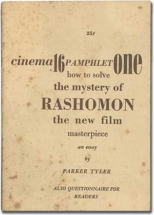 rashomon by akira kurosawa essay Essays and criticism on akira kurosawa - critical essays  his tenth film  rashomon (1950) was entered in the venice film festival and look lop honors.