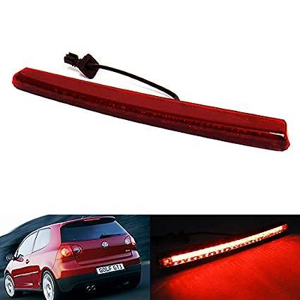 Lente roja LED trasero de alto nivel centro tercera luz de freno ...